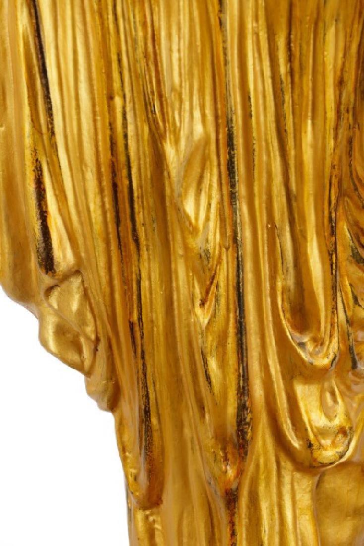 Pair, Cast Bronze Blackamoors on Marble Bases - 9