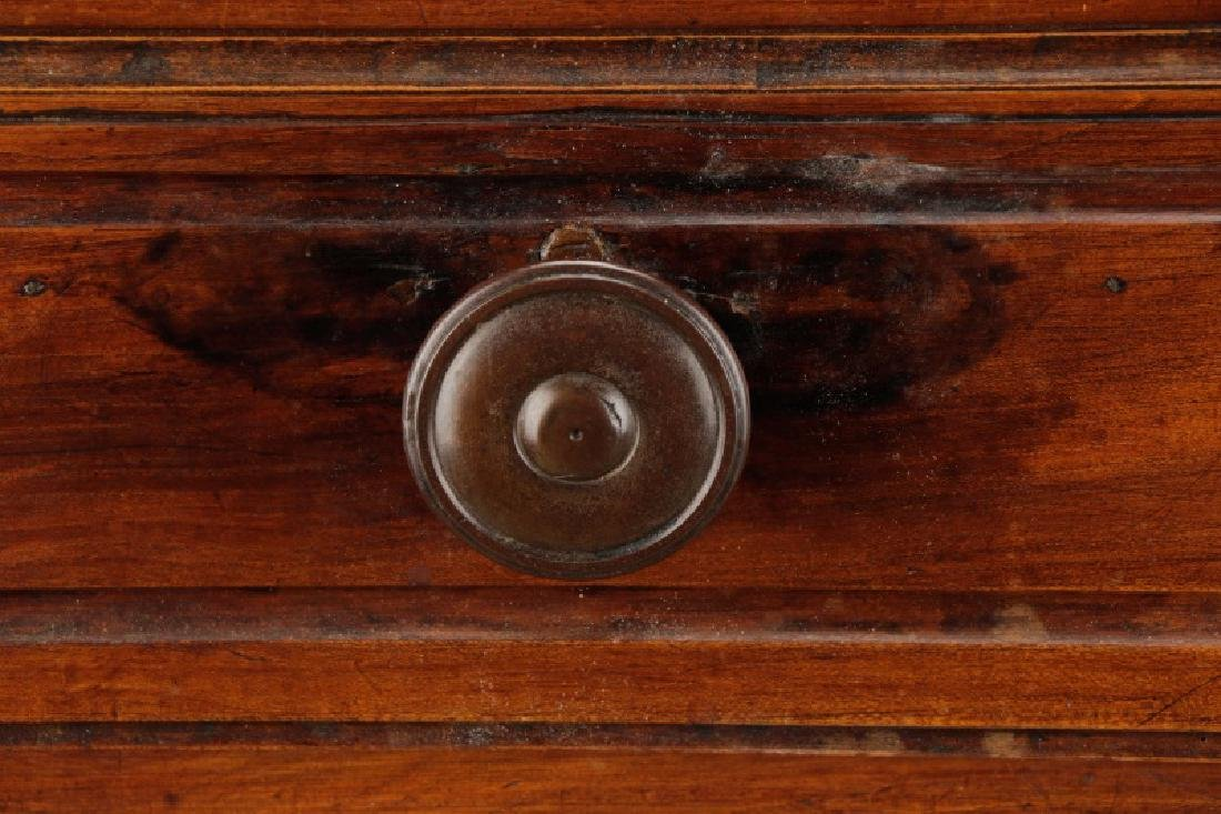 Carved French Provincial Walnut Chest - 2
