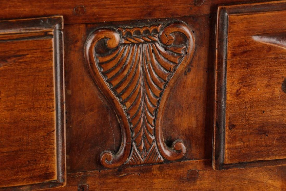 Carved French Provincial Walnut Chest - 3