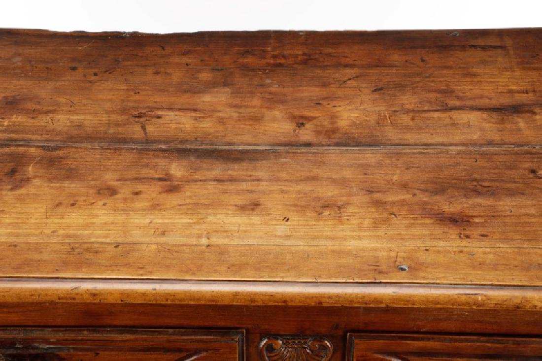 Carved French Provincial Walnut Chest - 5