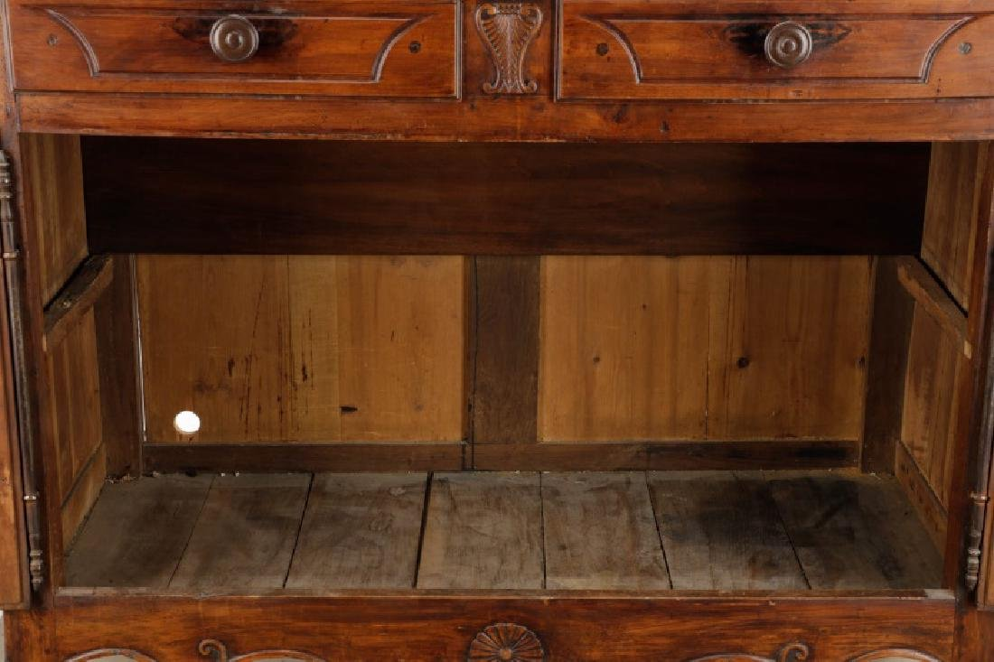 Carved French Provincial Walnut Chest - 7