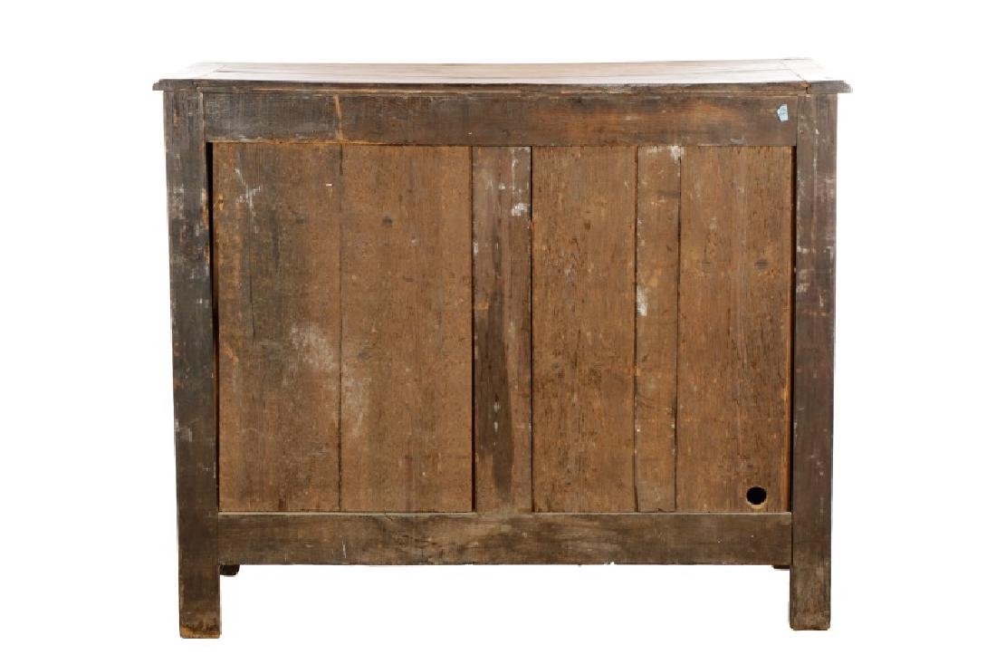 Carved French Provincial Walnut Chest - 9