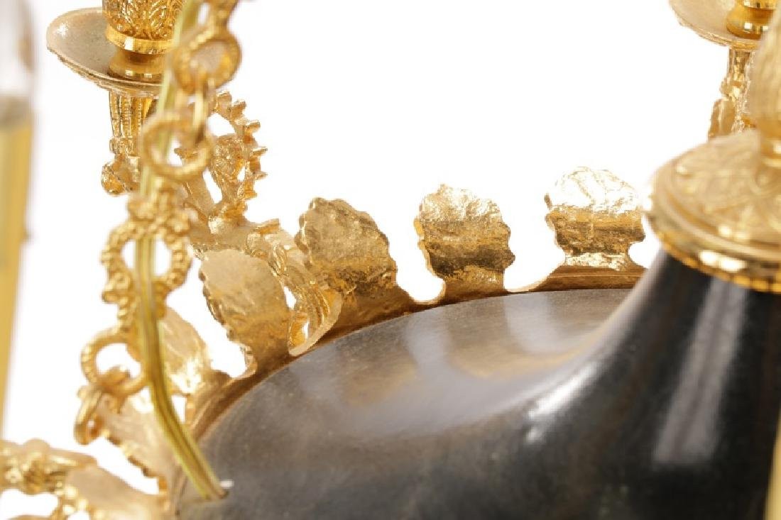 French Empire Style Gilt Bronze Chandelier - 3