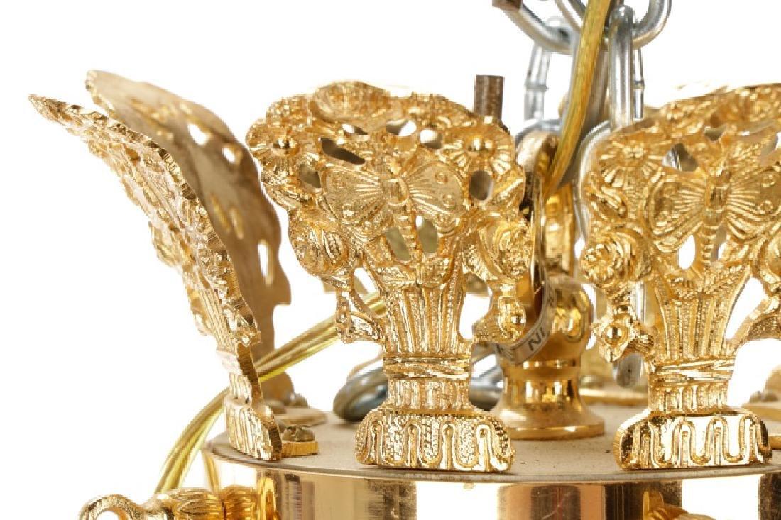 French Empire Style Gilt Bronze Chandelier - 4