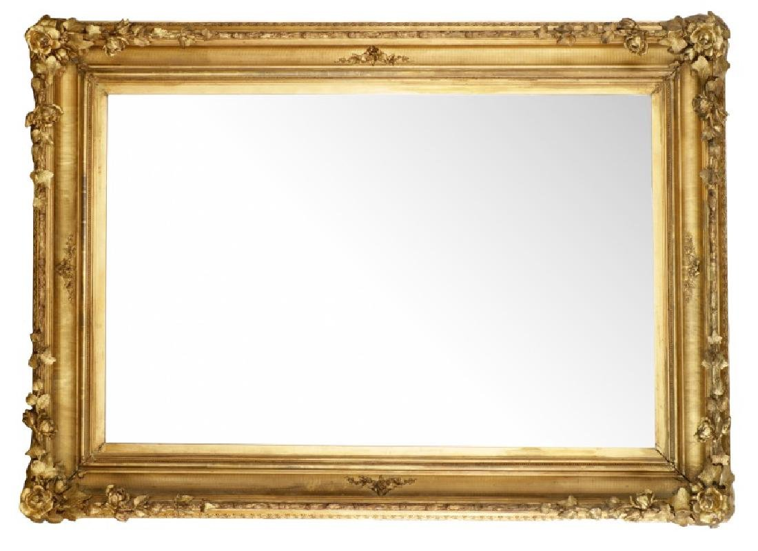 Large Naturalistic Continental Giltwood Mirror