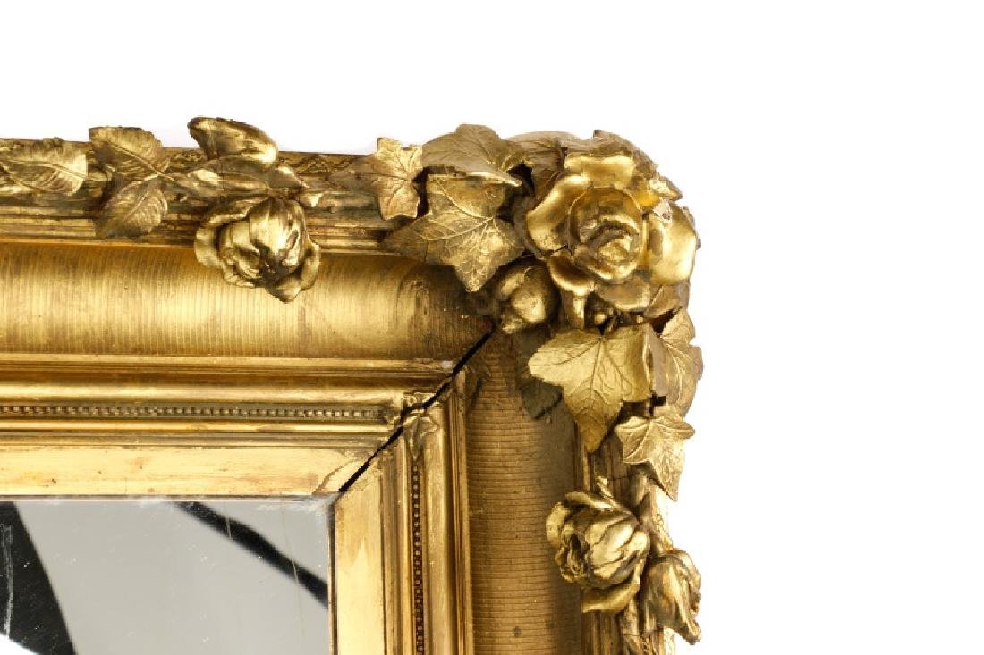 Large Naturalistic Continental Giltwood Mirror - 2