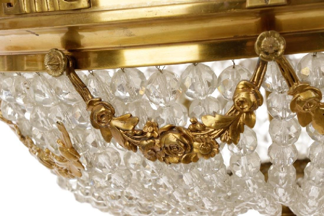 French Empire Style Basket Chandelier - 7