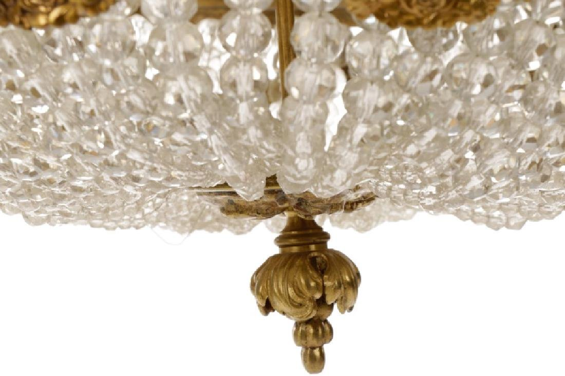 French Empire Style Basket Chandelier - 8
