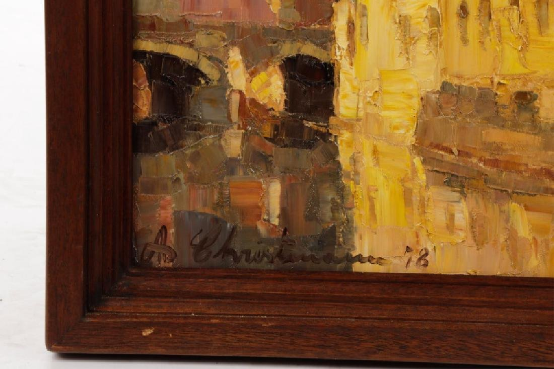 """Danish School, """"Along the Canal""""-1978, Signed - 2"""