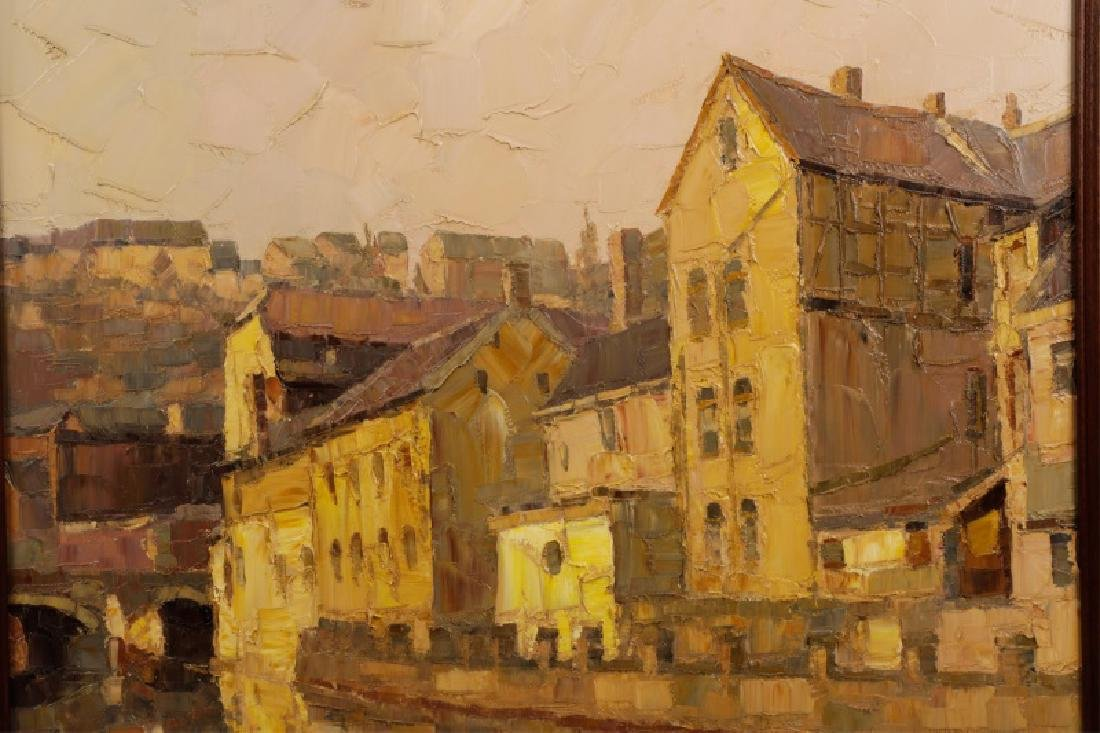 """Danish School, """"Along the Canal""""-1978, Signed - 3"""