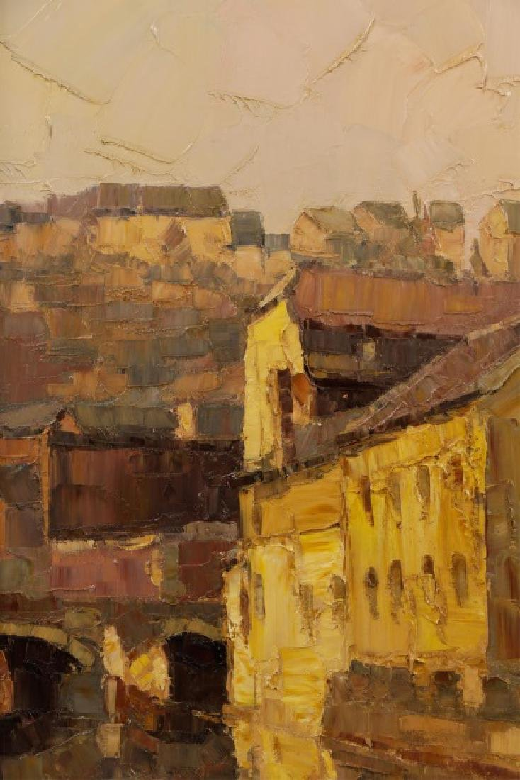 """Danish School, """"Along the Canal""""-1978, Signed - 4"""
