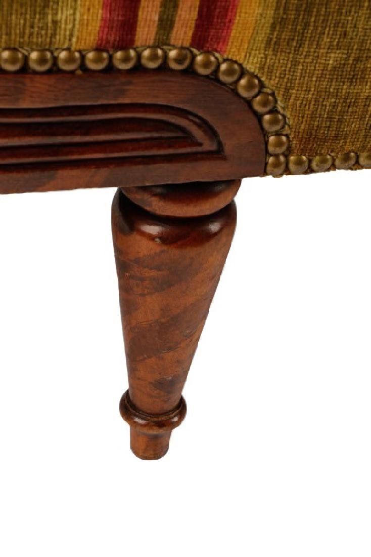 Caned & Stained Tortoiseshell Wood Settee - 5