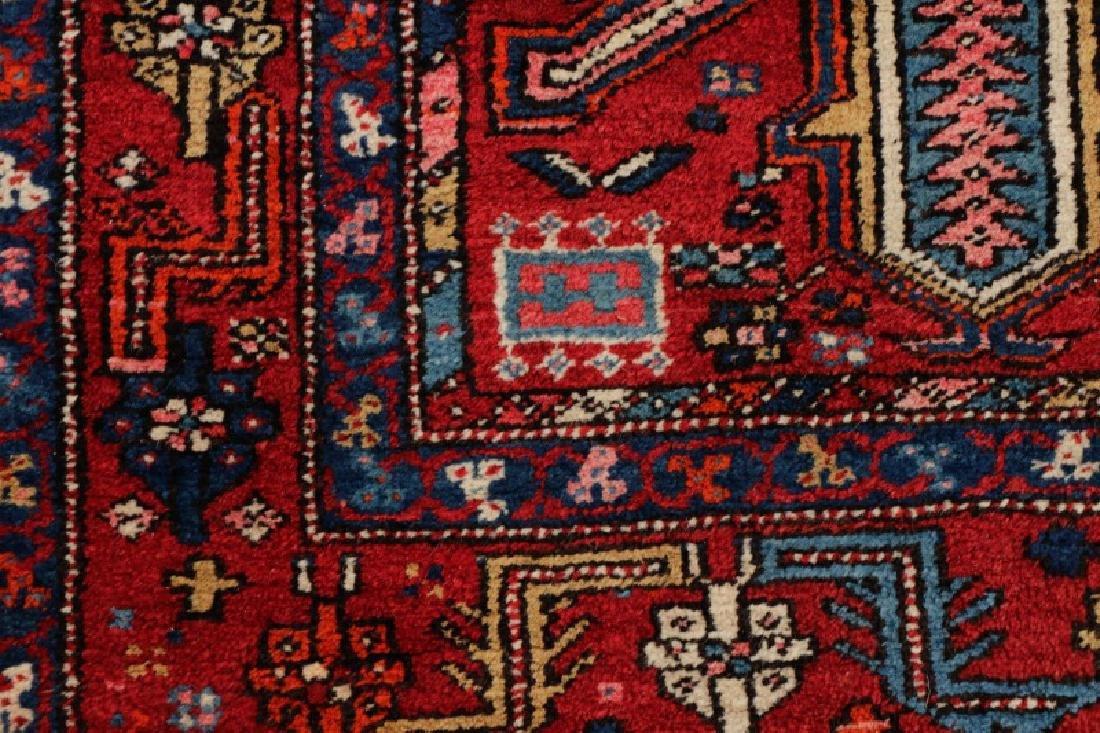 Hand Woven Semi Antique Persian Heriz Runner - 3