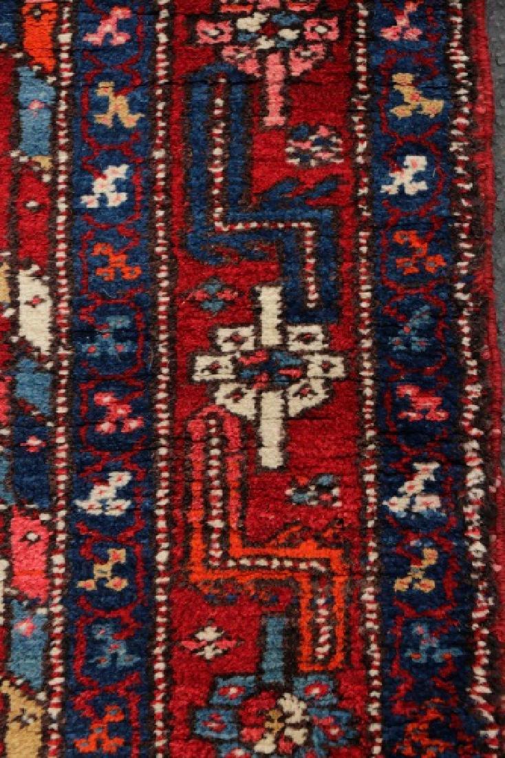 Hand Woven Semi Antique Persian Heriz Runner - 5