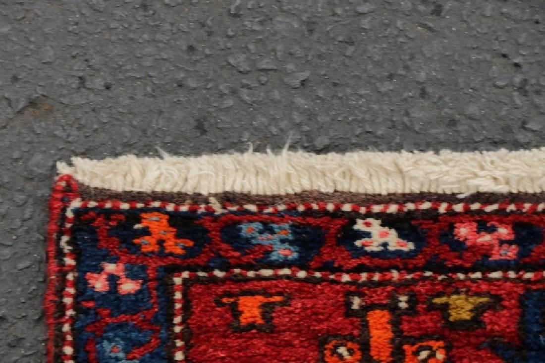 Hand Woven Semi Antique Persian Heriz Runner - 6