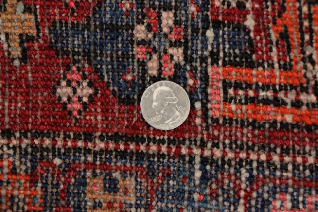 Hand Woven Semi Antique Persian Heriz Runner - 7
