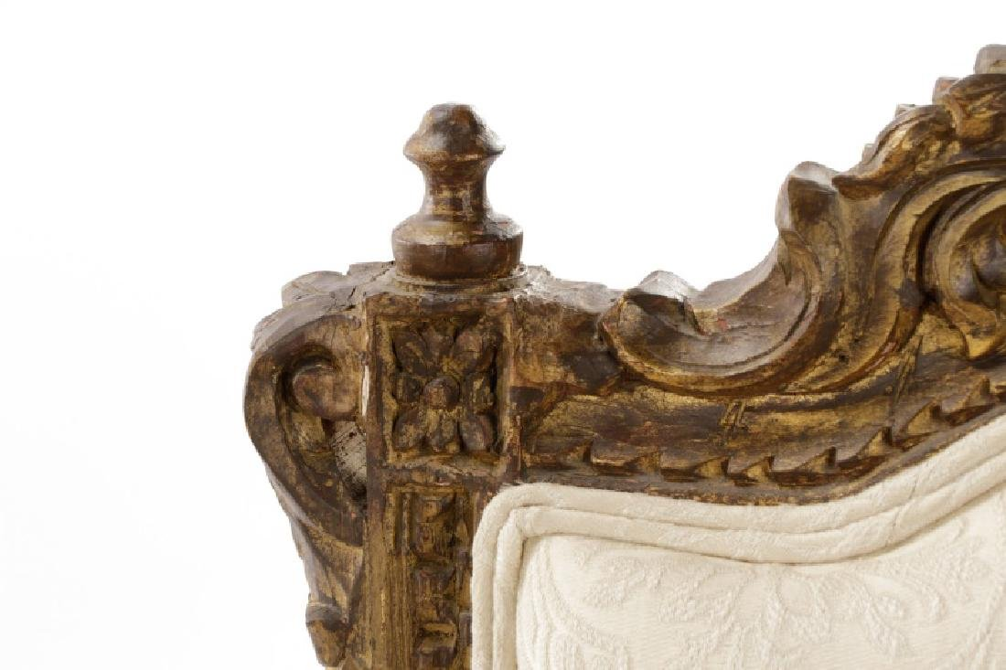 Pair of Baroque Style Giltwood Armchairs - 4