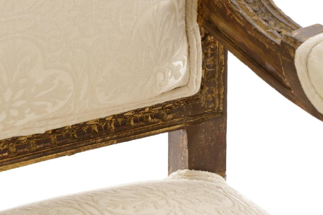 Pair of Baroque Style Giltwood Armchairs - 7