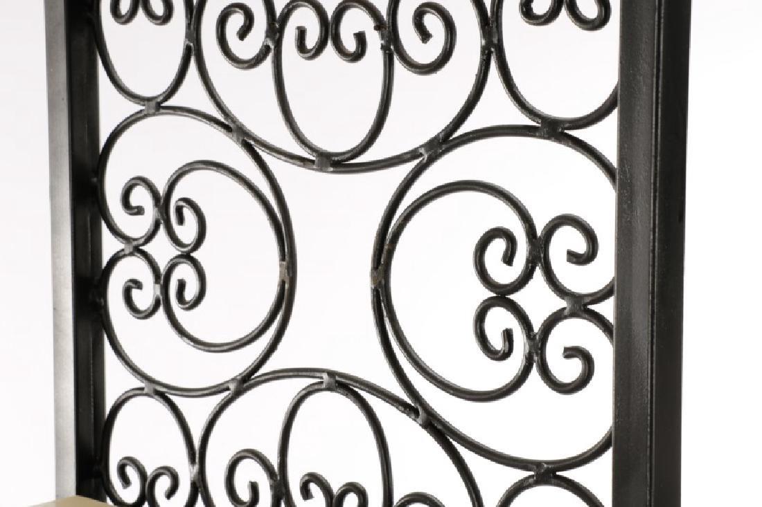 Pair French Style White Stone and Iron Etageres - 3