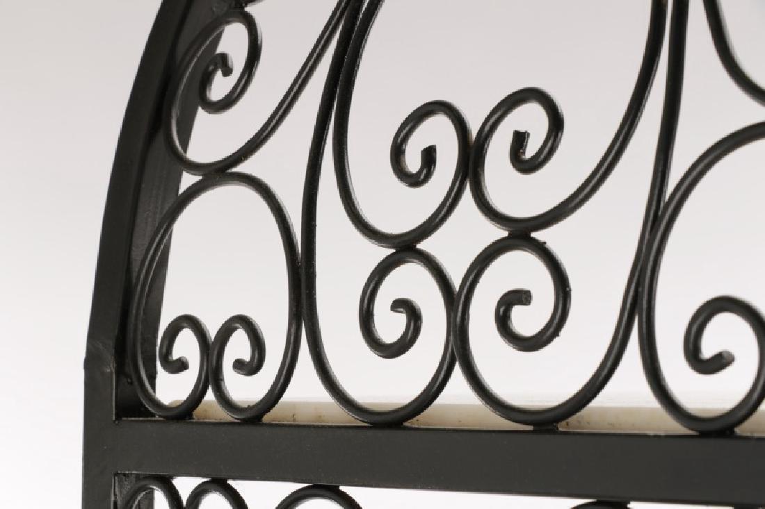 Pair French Style White Stone and Iron Etageres - 6