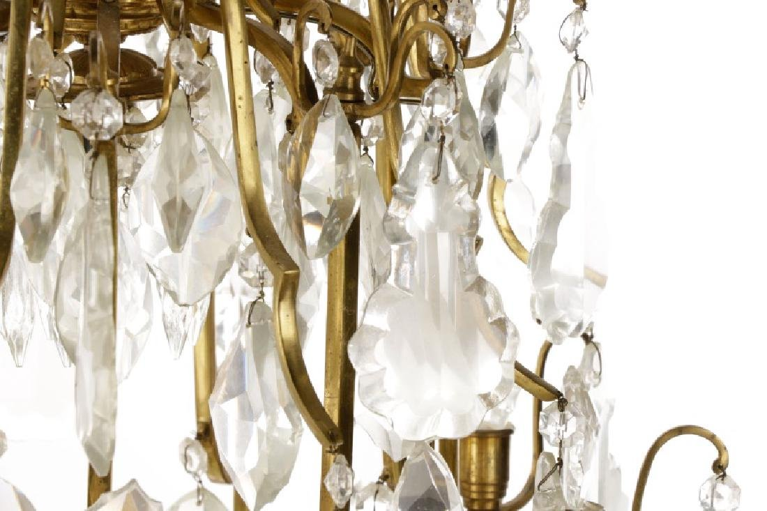 Large Gilt Metal Neoclassical Style Chandelier - 2