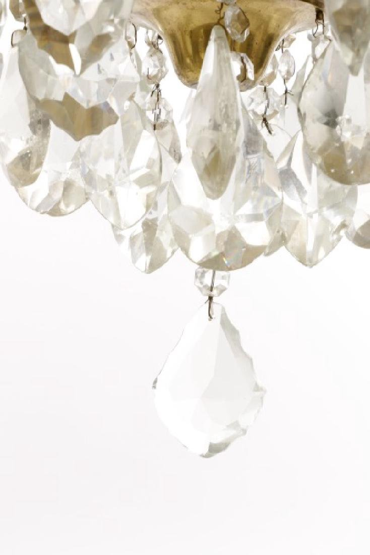 Large Gilt Metal Neoclassical Style Chandelier - 8
