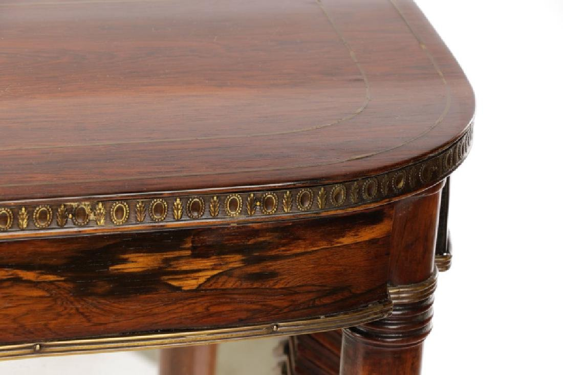 Neoclassical Style Rosewood & Brass Pier Table - 4