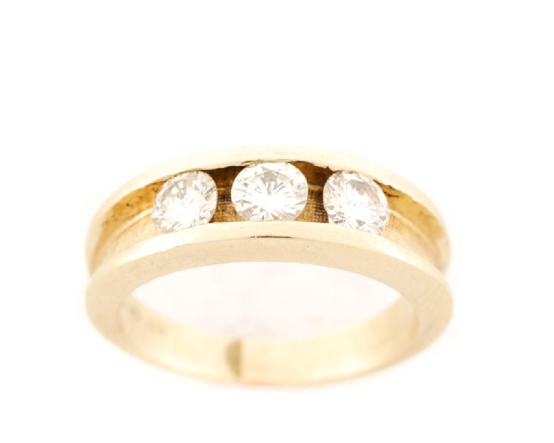 Ladies 14k Yellow Gold & Diamond Engagement Ring