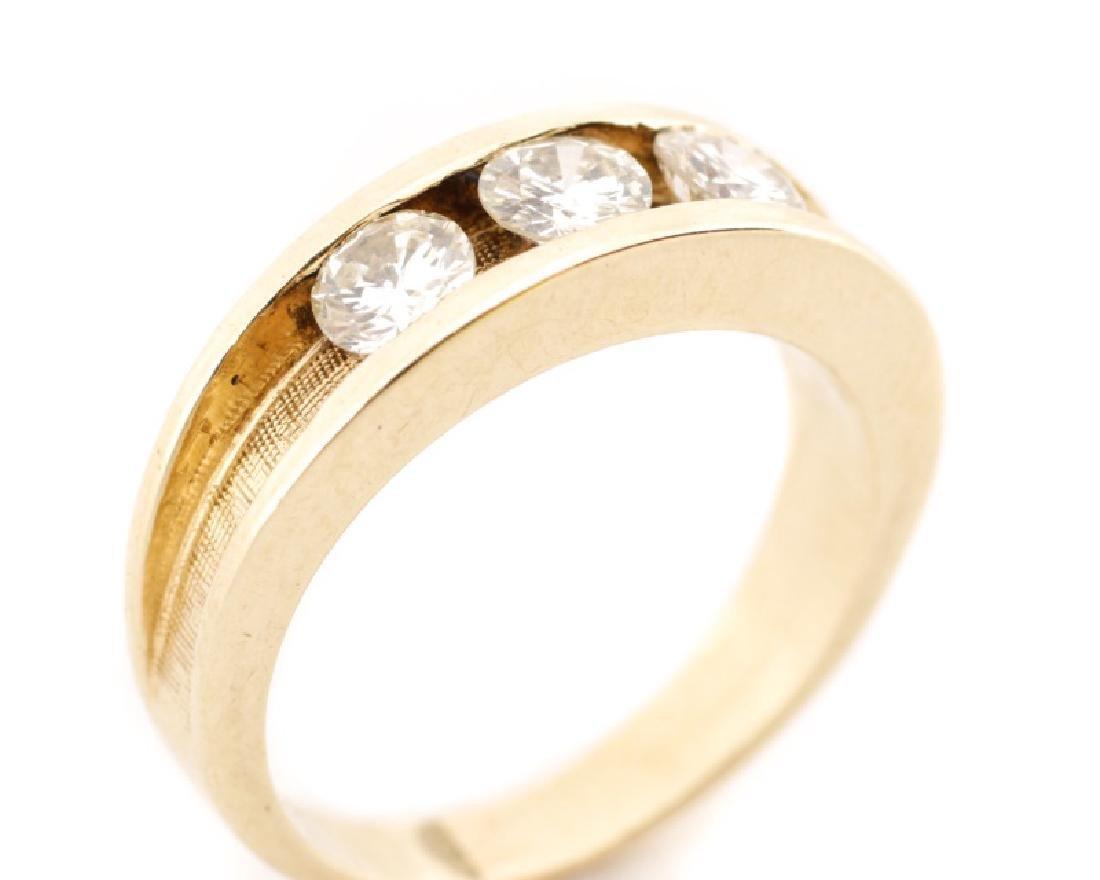 Ladies 14k Yellow Gold & Diamond Engagement Ring - 2