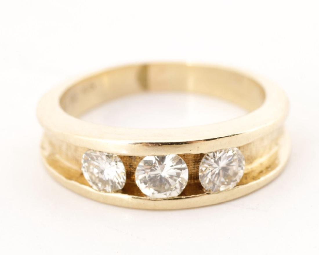 Ladies 14k Yellow Gold & Diamond Engagement Ring - 3