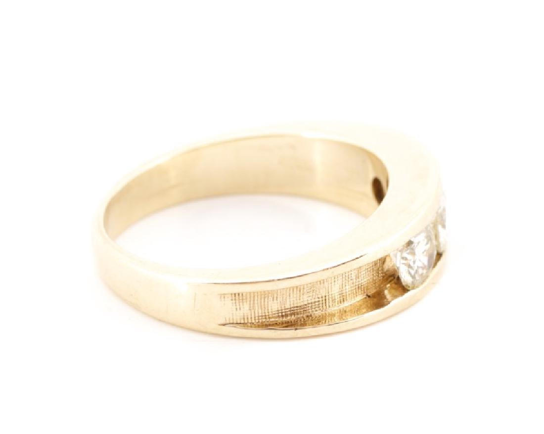 Ladies 14k Yellow Gold & Diamond Engagement Ring - 4