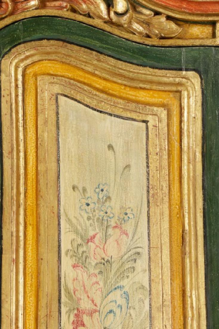 Venetian Baroque Style Floral Motif Armoire - 3