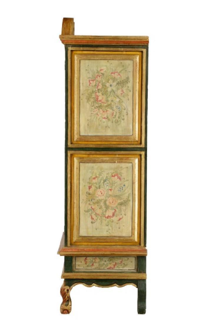 Venetian Baroque Style Floral Motif Armoire - 8