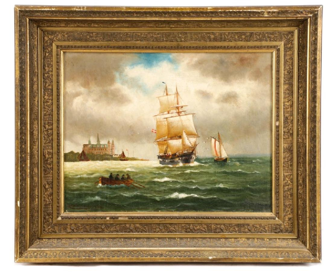 "Nicoline Holm, ""Ship Under Tumultuous Skies""-1908"