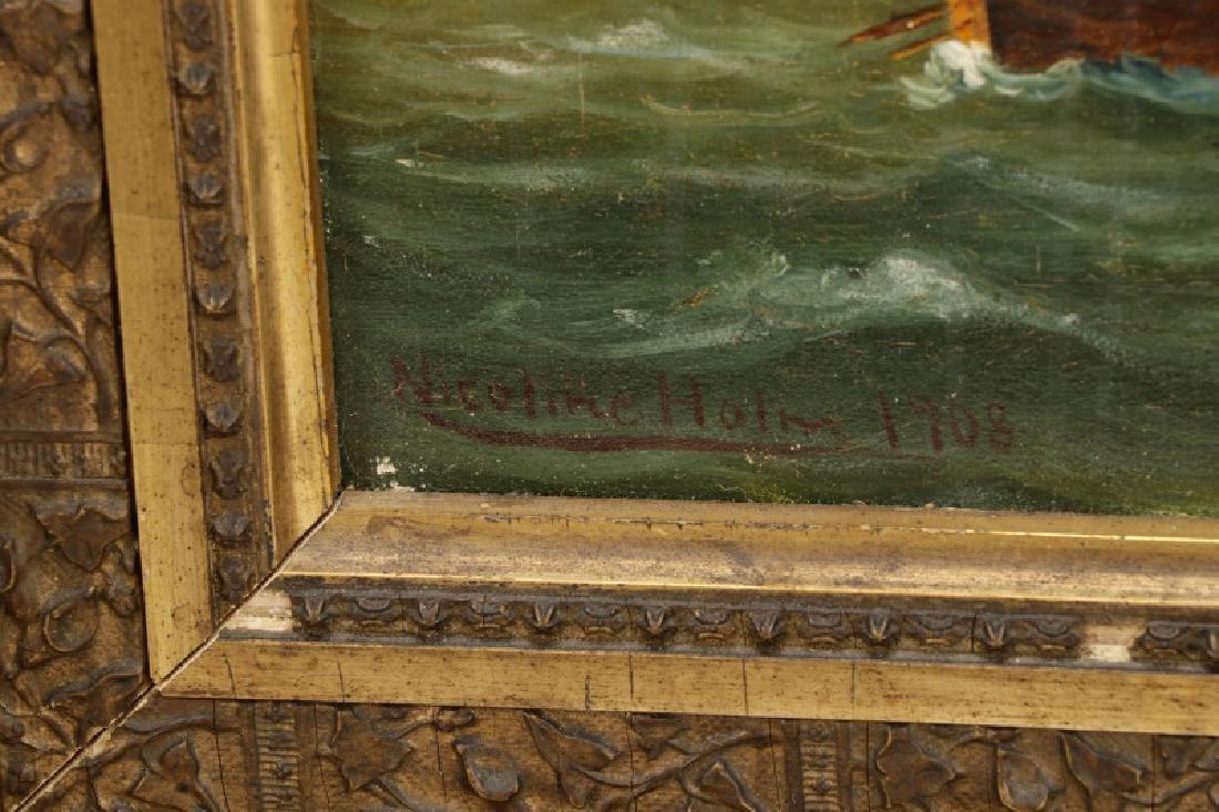 "Nicoline Holm, ""Ship Under Tumultuous Skies""-1908 - 8"