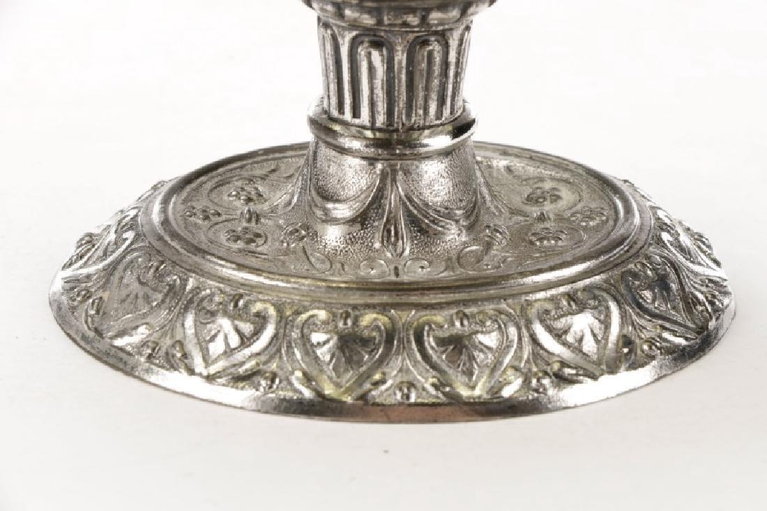 Renaissance Style Silverplate & Glass Cellini Jug - 4