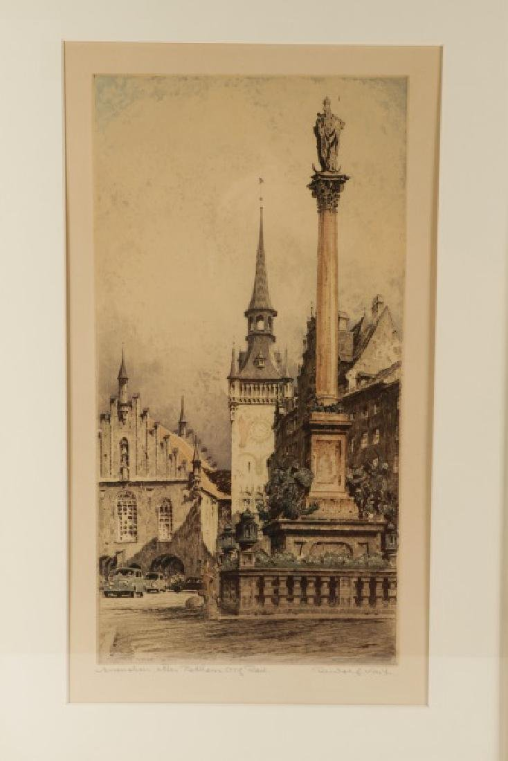 Collection of 2 Rudolf Veit Etchings with Aquatint - 2