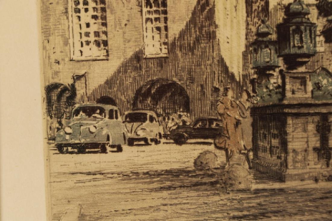 Collection of 2 Rudolf Veit Etchings with Aquatint - 5