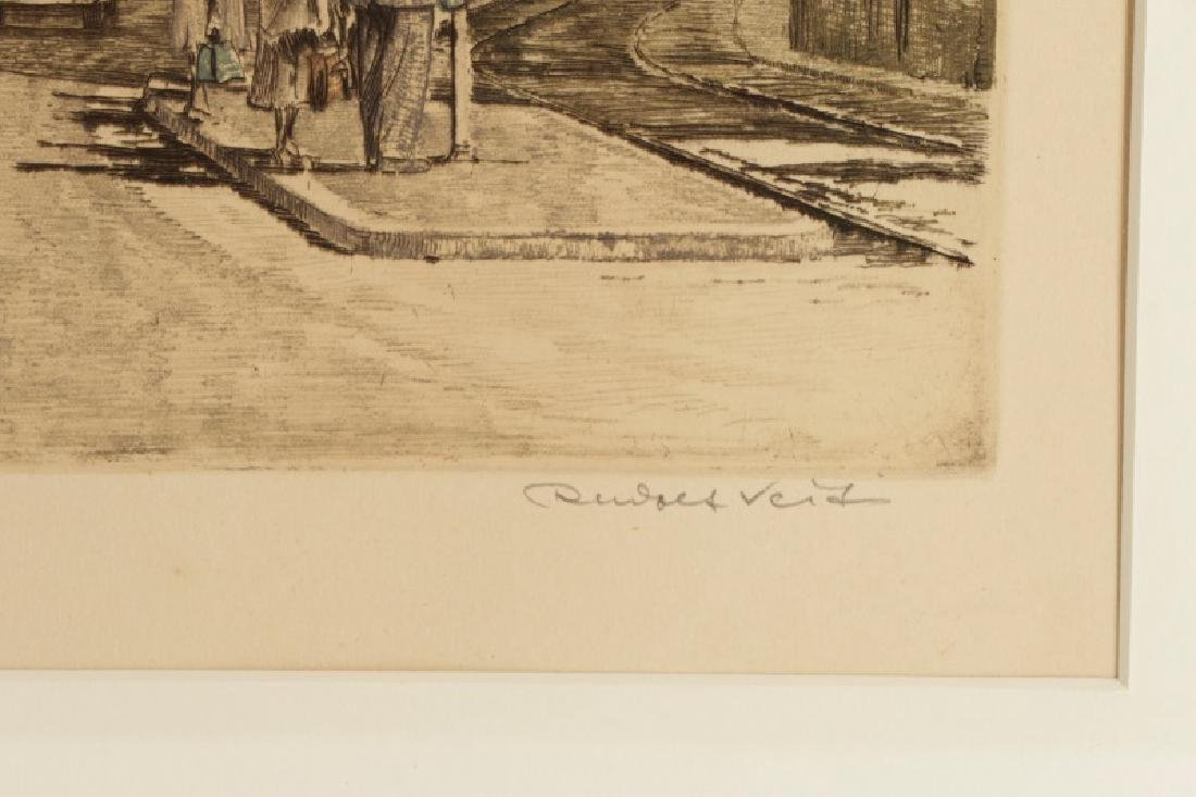 Collection of 2 Rudolf Veit Etchings with Aquatint - 7