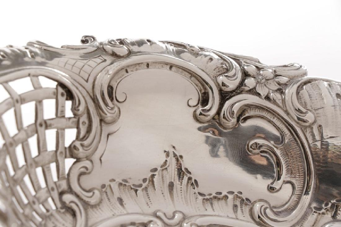 Austrian .800 Silver Repousse Footed Serving Bowl - 2