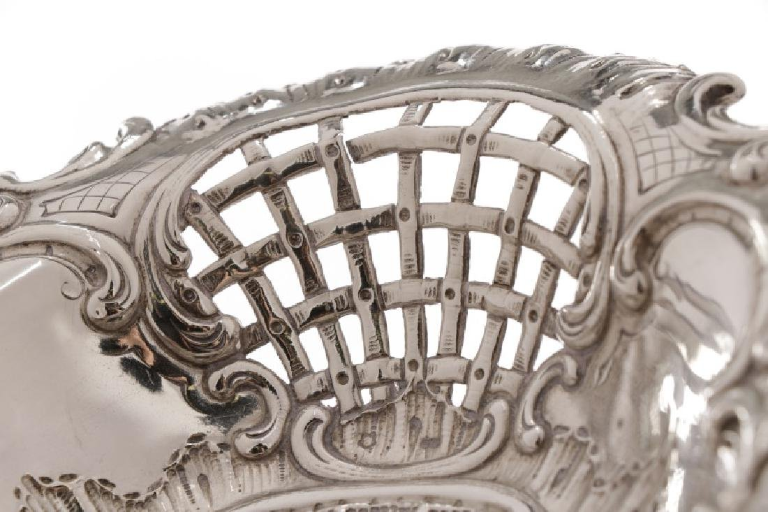 Austrian .800 Silver Repousse Footed Serving Bowl - 4