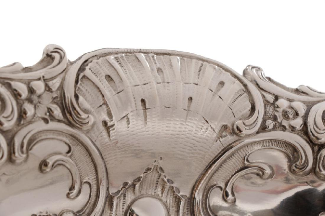 Austrian .800 Silver Repousse Footed Serving Bowl - 5