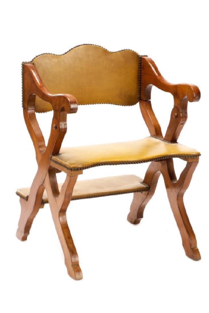 English Metamorphic Prie Dieu Prayer Chair