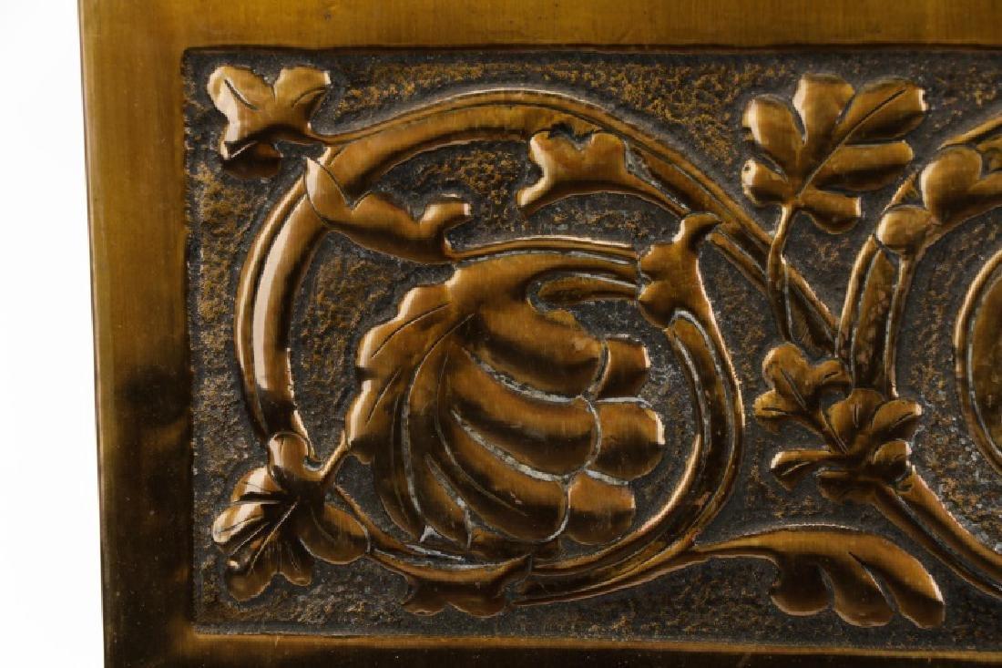 French Art Nouveau Pier Mirror, Scrolled Oak Motif - 2