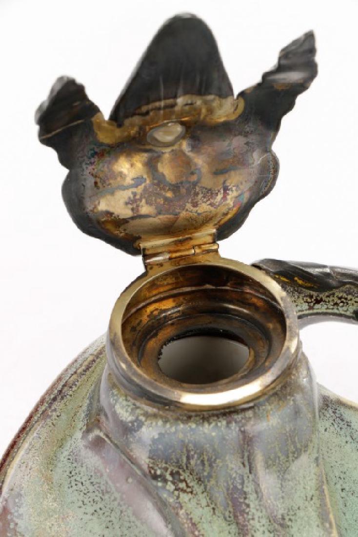 Art Nouveau Flambe Glazed Inkwell, Alexandre Bigot - 6