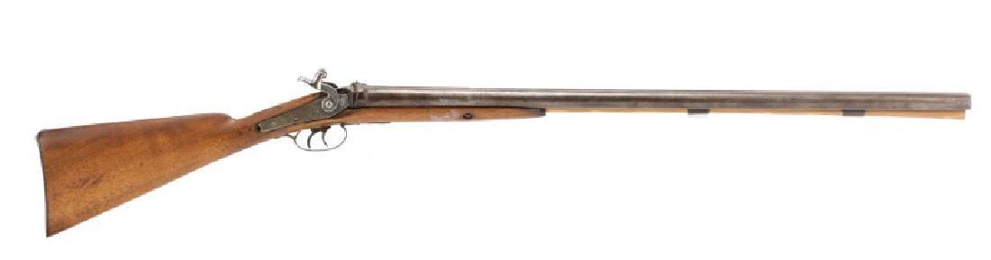 19th C. American .38 Percussion Rifle, G. Goulcher