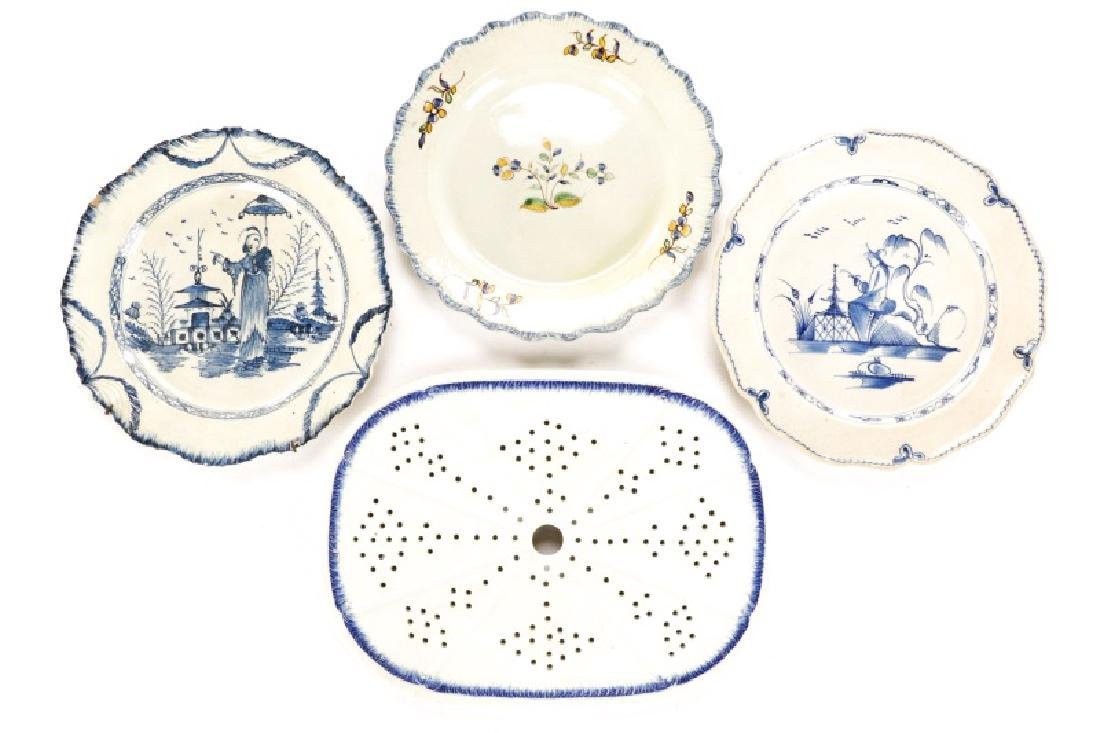 Group of Four Pieces Creamware & Pearlware