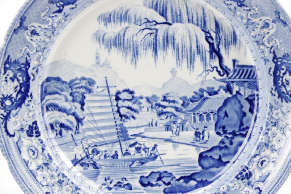 3 Pcs Blue & White Earthenware Davenport & Rogers - 4