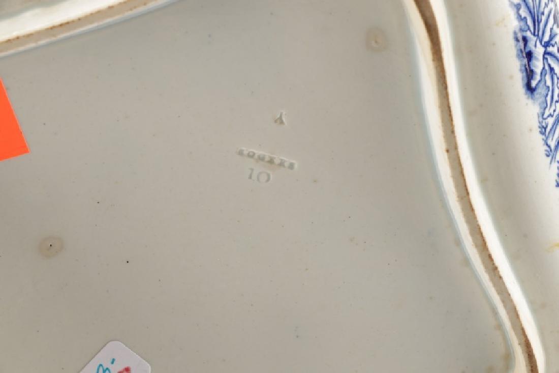 3 Pcs Blue & White Earthenware Davenport & Rogers - 5