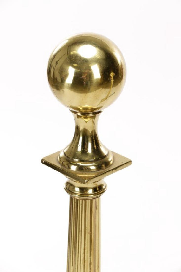 Neoclassical Style Gilt Metal Claw Foot  Andirons - 2